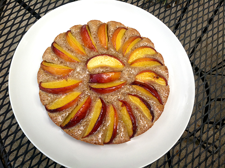Almond Peach Tart