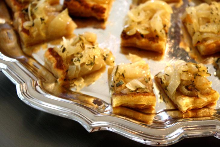Onion Tart Canapés