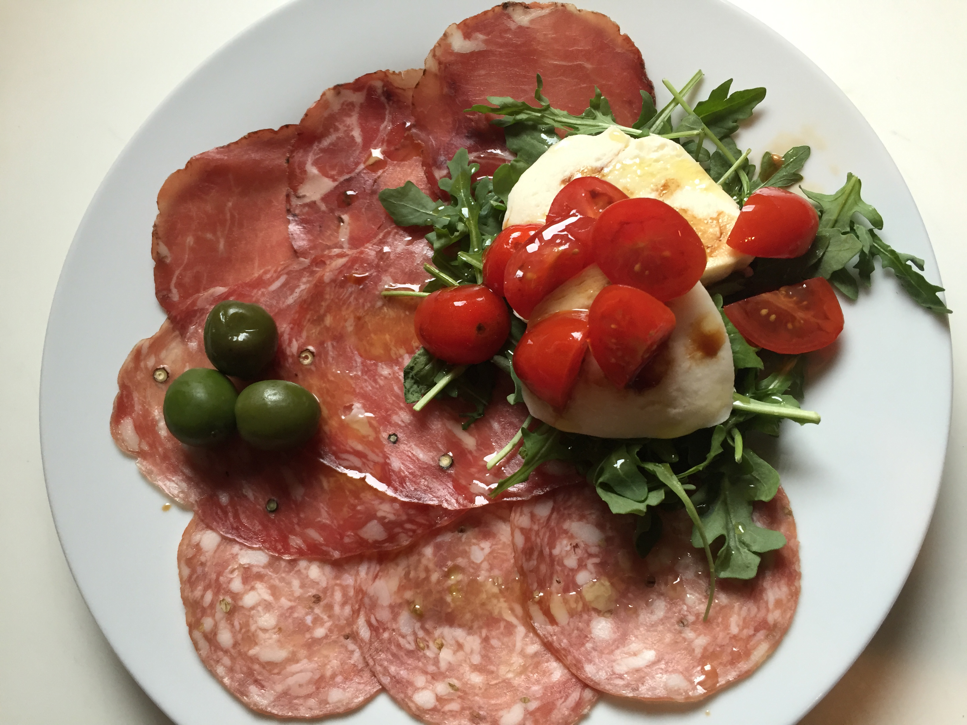 Salumi Plate with Fresh Mozzarella & Heirloom Tomatoes