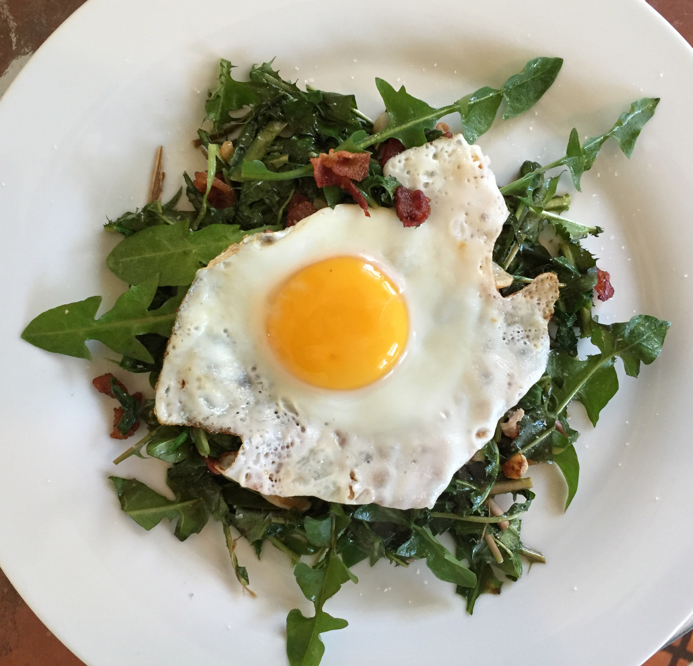 Salade Lyonnaise with Wild Dandelion