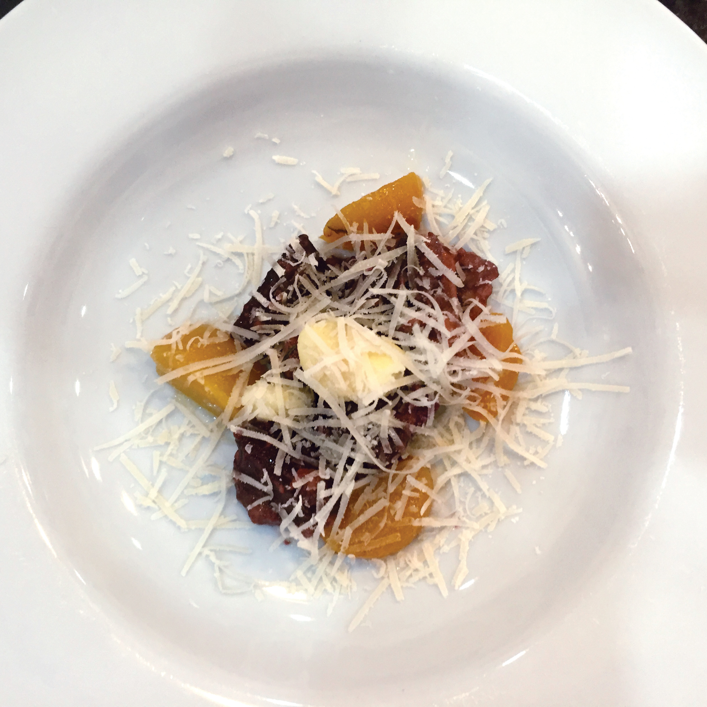 Housemade Gnocchi with Beets & Parmesan