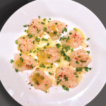 Crudo of Diver Scallops with Chives & Pink Peppercorns