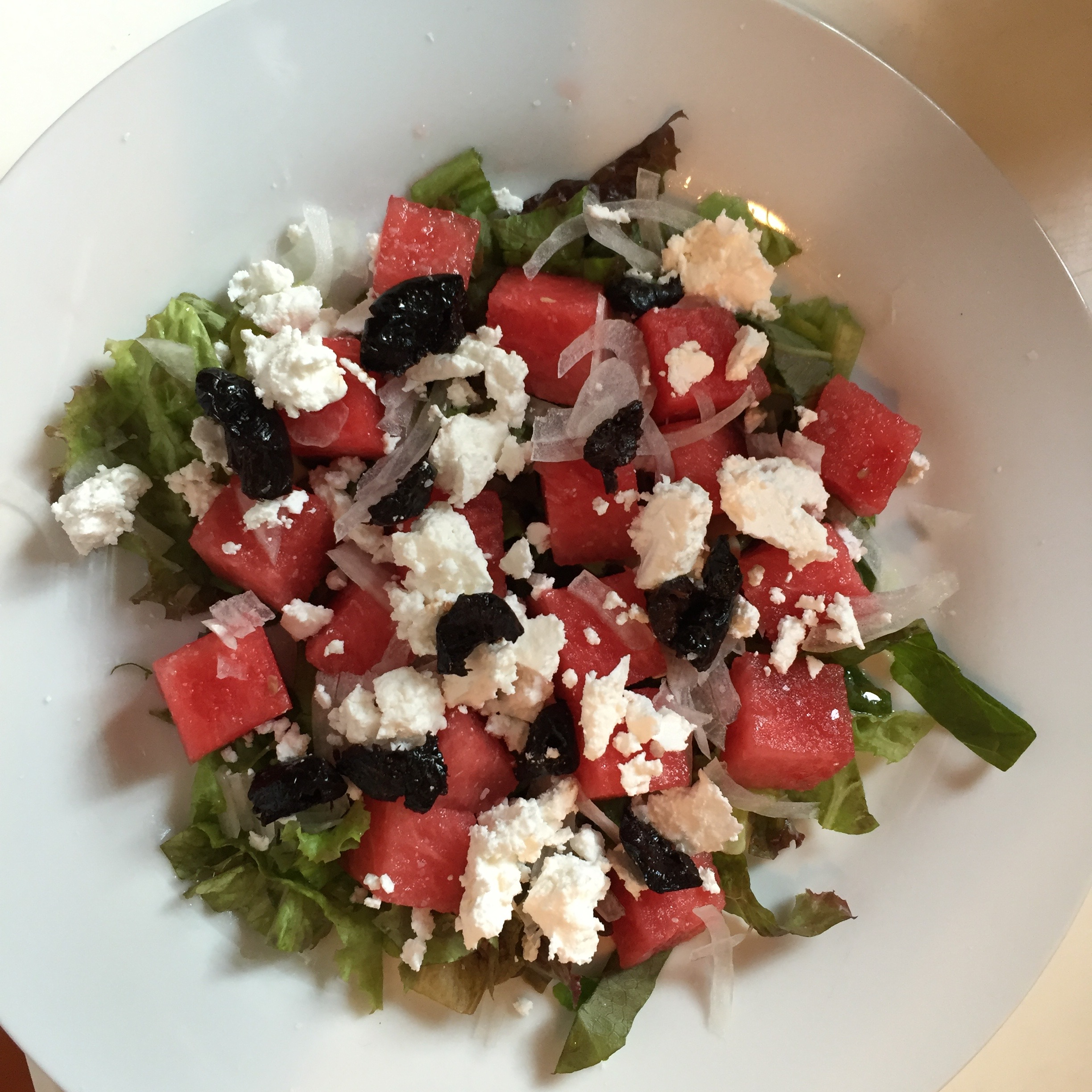 Watermelon & Feta Salad with Oil Cured Olives