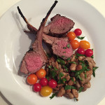 Loin Lamb Chops with Cranberry, Beans & Heirloom Tomatoes
