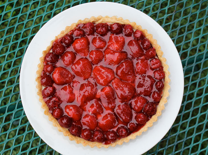 Strawberry & Raspberry Tart