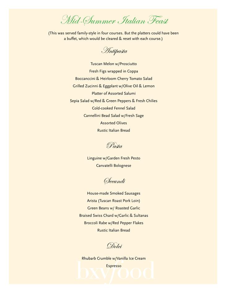 buffet sample menus bxvfood rh bxvfood com italian buffet menu ideas italian buffet menu pdf